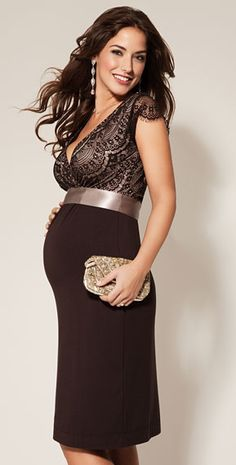 Rosa Maternity Dress Mocha - Maternity Wedding Dresses, Evening Wear and Party Clothes by Tiffany Rose.