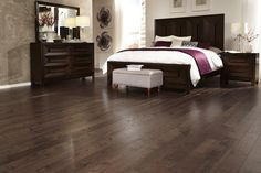 """Darker flooring is often recommended because it gives a room a fresh & open feel that can make the space look larger."" - Celebrity Realtor Josh Altman"