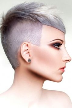 #PlatinumFrenzy Spectacular platinum and lavender haircolor with precise, beautifully designed haircut by Rossa Jurenas; Photog: Paula Tizzard #HotOnBeauty www.hotonbeauty.com