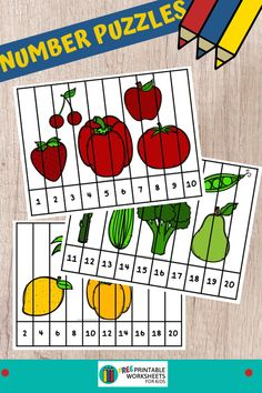 Fruit and Veg Themed and Vegetables Themed Literacy and Math Centers Free Printable Worksheets, Worksheets For Kids, Free Printables, Kids Cooking Activities, Classroom Activities, Therapy Activities, Healthy Kids, How To Stay Healthy, Healthy Eating