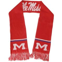Ole Miss Rebels Women's Cardinal Metallic Thread Scarf