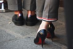 thom browne || christian louboutin shoes