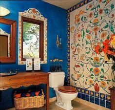 badezimmergestaltung badezimmerfliesen wanddekoration kobaltblau