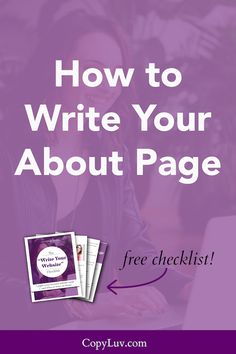 About Page | Bloggers | Coaches | Website Tips | Online Business | Solopreneurs | Website Copy