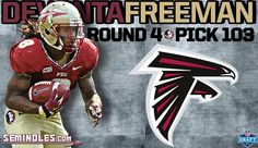 With the 103rd pick of the draft the Atlanta Falcons select #Noles RB Devonta Freeman!