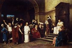 Biblical Paintings - Christ Before Pilate by Mihaly Munkacsy