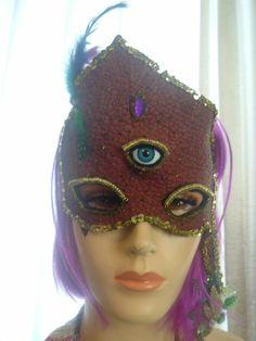 Mask / third eye / new age.   by TheFunkyGypsy on Etsy, $105.00