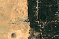 Giza Egypt Earth View is a collection of the most beautiful and striking landscapes found in Google Earth.
