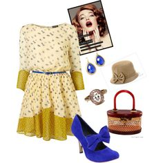 Blue Retro, created by avap-27 on Polyvore