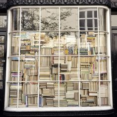 no need for curtains when you have books!