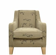 Our Alpine Chair in Linwood Hudson Bay Grouse is a great addition to any nautical themed room with it's beautiful flying bird pattern www.multiyork.co.uk/armchairs/alpine-chair