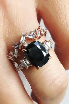 Unique Black Diamond Engagement Rings ★ See more: https://ohsoperfectproposal.com/black-diamond-engagement-rings/ #engagementring #proposal