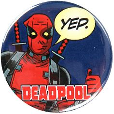 Marvel Deadpool Yep Pin Hot Topic ❤ liked on Polyvore featuring costumes, blue halloween costume and blue costume