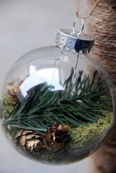 clear plastic glass ornament homemade DIY gift christmas craft -- need to pick up some items from Colorodo next time to make this!