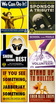 Panem Propaganda Posters #Hunger #Games