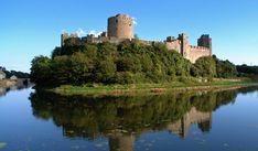 Pembroke Castle, beside the River Cleddau, Pembroke, West Wales
