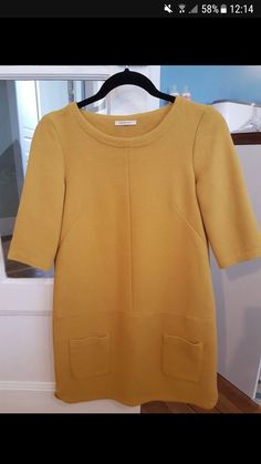 Robe Promod - Jolie robe Promod Style 60's Jaune Comme neuve ! Au-dessus du genou Manches 3/4 2 poches à l'avant #printemps #promod #robefemme36 #robemoutarde #robemoutardepromod