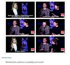 Michael Fassbender and James McAvoy interview GIFset