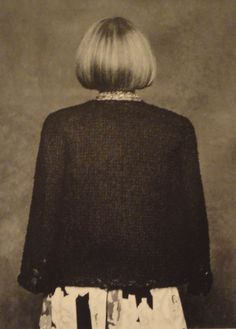 Anna Wintour, by Karl Lagerfeld for the Little Black Jacket