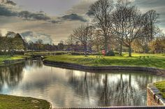 Droitwich Canal in Vines Park, Droitwich Spa,Worcestershire