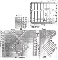 18 muestras de colchas tejidas a crochet ⋆ Manualidades Y DIYManualidades Y DIY Manta Crochet, Bed Spreads, Diagram, Diy, Words, Crochet Stitches, Railings, Paths, Stitches