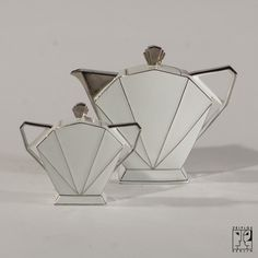Art Deco coffee service, Czechoslovakia, Manufacturer: Schlaggenwald, Material: porcelain,1935