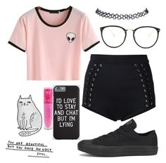 """""""Summer"""" by jayceepanda on Polyvore featuring WithChic, Balmain, Wet Seal, Linda Farrow, Converse and Jeffree Star"""