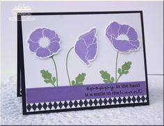 Poppy Trio by strappystamper - Cards and Paper Crafts at Splitcoaststampers
