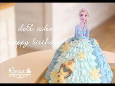 Frozen Cake, Elsa Frozen, Dolls, Disney Princess, Happy, Youtube, Cakes, Baby Dolls, Elsa From Frozen