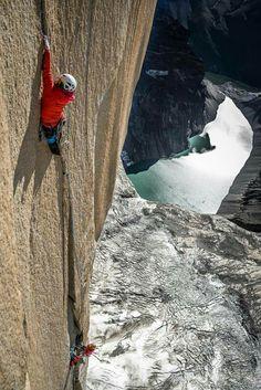 Ines Papert climbing