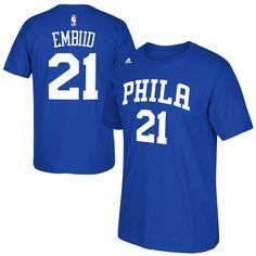 ec2157d21 Joel Embiid Philadelphia 76ers adidas 2015 Net Number T-Shirt - Royal -   22.39 Philadelphia