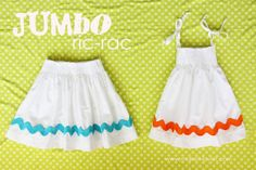 More spring dress/skirt ideas…….Jumbo Ric-Rac | Make It and Love It