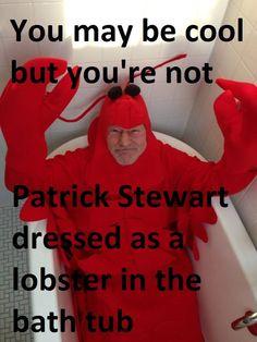 Patrick Stewart Lobster Cool