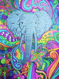 """Psychedelic Elephant"" Artist:Rhiana"