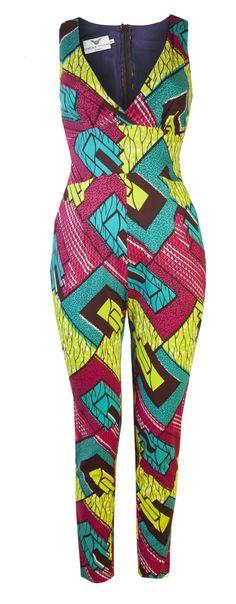 Doris- African print jumpsuit 'Pashpa' - OHEMA OHENE AFRICAN INSPIRED FASHION - 1