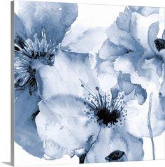 Black Framed Art Print Flowing Flowers II - Flowers Art - Ideas of Flowers Art Watercolor Print, Watercolor Flowers, Watercolor Paintings, Black Framed Art, Framed Art Prints, Canvas Prints, No Rain No Flowers, Brown Art, Blue Art