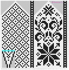 Strikkeblogger | Norsk Strikkeblogg oversikt - Part 3 Knitting Charts, Knitting Socks, Knitting Patterns, Knitted Mittens Pattern, Crochet Mittens, Weaving Patterns, Craft Patterns, Beaded Cross Stitch, Fair Isle Knitting