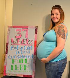 37 weeks! FULL TERM! Pregnancy Countdown, Pregnancy Tracker, How Big Is Baby