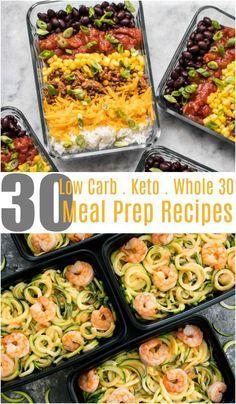 30 Low Carb Meal Prep Recipes | Keto Recipes | Keto Meal Prep | Whole 30 Recipes | Whole 30 Meal Prep Recipes | Low Carb Meal Prep Recipes