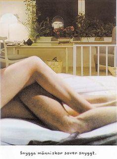 """""""Snygga människor sover snyggt."""" (Jan Stenmark)"""