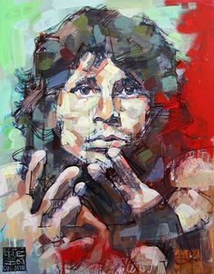 """""""Jim"""" Morrison portrait 