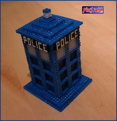 3D Tardis box - Doctor Who hama perler beads by Pix-l-and