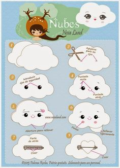 Noia Land: Tutorial: Nubes de fieltro.