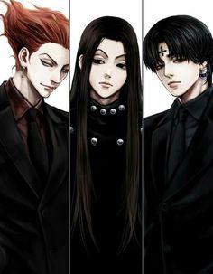 Hisoka, Illumi and Kuroro