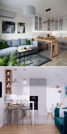 small apartment decorating 627900373031396376 - Awesome 48 Vintage Home Design Ideas On A Budget Source by needecordecor Design Living Room, Kitchen Room Design, Living Room Kitchen, Home Decor Kitchen, Interior Design Kitchen, Small House Interior Design, Kitchen Pics, Studio Living, Small Apartment Kitchen