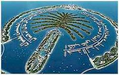 Dubai Palm Tree Island was the first manmade Dubai Island. The island is built in the shape of a Date Palm Tree. There are three palm tree islands being built in Dubai.