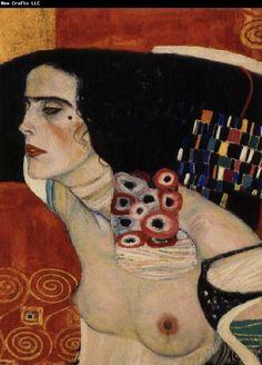 Judith or Salome (detail) by Gustav Klimt