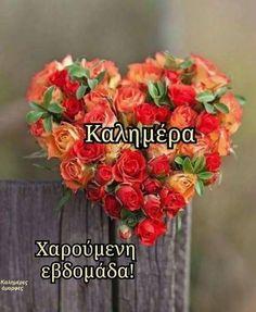 Καλημερα να εχουμε μια ομορφη βδομαδα, και αυτος ο μηνας να ειναι ο καλυτερος του προηγουμενου!!! Good Afternoon, Good Morning, Decoupage, Beautiful Pictures, Floral Wreath, Projects To Try, Flowers, Cards, Gifs