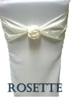 How to Tie a Chair Sash - Rosette