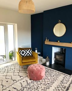 Log fire has been in use a LOT over the last week ❄️ New Living Room, Home And Living, Living Room Decor, Living Room Color Schemes, Living Room Designs, Salons Cosy, Room Interior, Interior Design, Lounge Decor